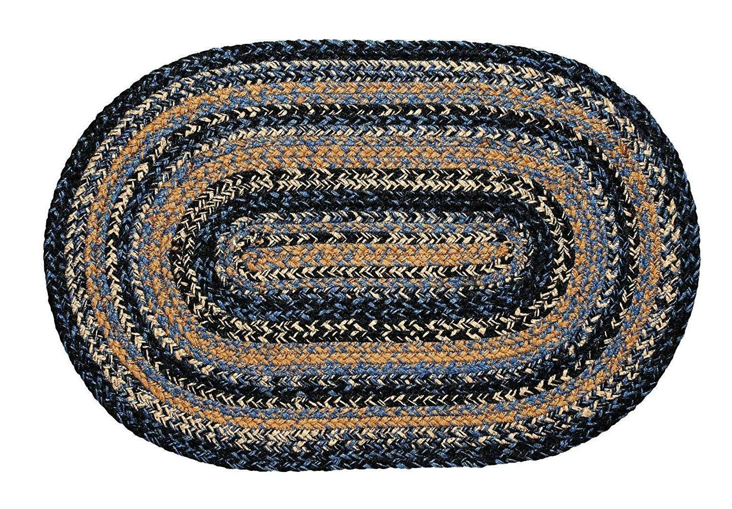 new ihf river shale blue braided jute