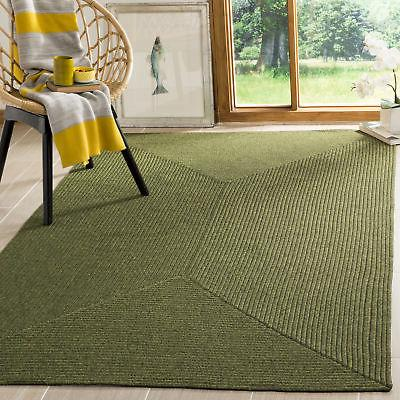 reversible braided green area rug brd315a