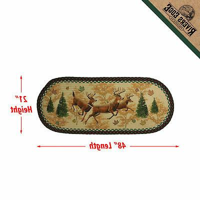 River's Deer Braided Inch Oval, Decor