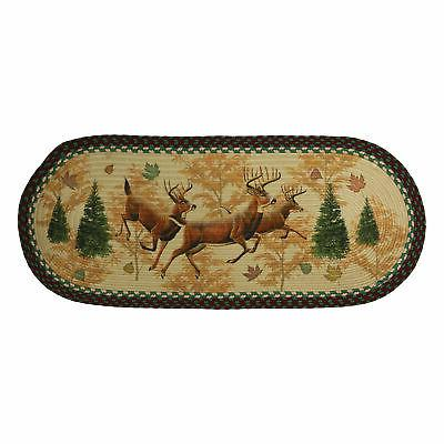 river s edge products deer braided runner