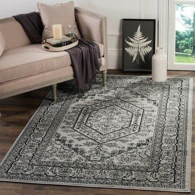 silver black power loomed area rugs adr108a
