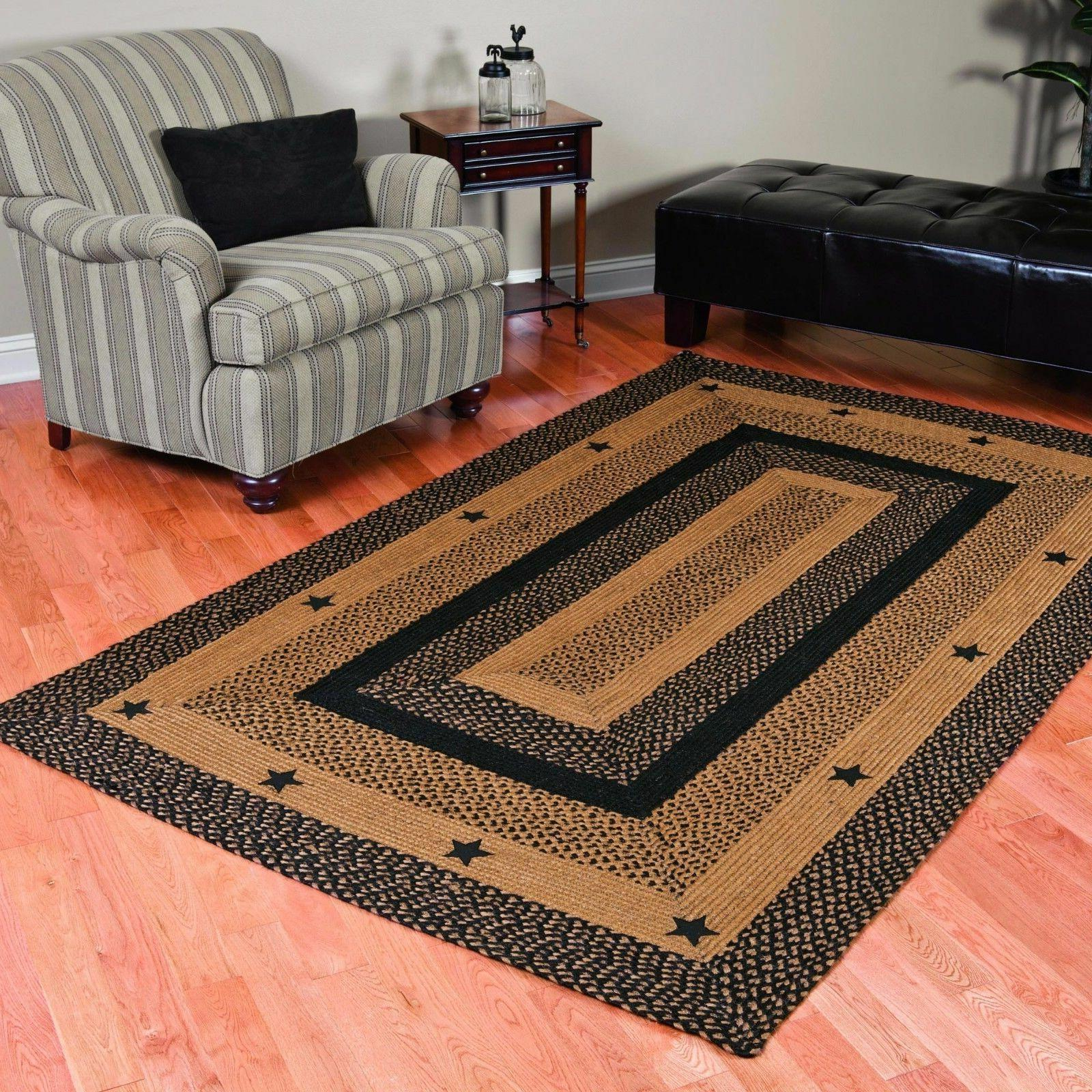 star black braided area rug by ihf