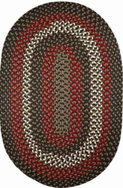 Manhattan Durable Country Cottage Home Classic Braided Rug B