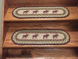 Moose Print Braided Stair Treads by Earth Rugs