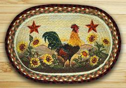 Earth Rugs 48-391 Morning Rooster Oval Placemat, 13 by 19-In