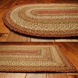 Mustard Seed Jute Braided Rugs by HomeSpice Decor