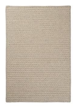 Natural Wool Houndstooth Cream Braided Area Rug/Runner. Many