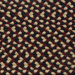 NAVY BLUE, BURGUNDY, CREAM COUNTRY BRAIDED AREA RUGS By COLO