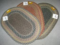 """NEW-20""""/inches X 30""""/inches-CAPITOL EARTH THROW RUGS-Braided"""