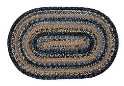*NEW* IHF River Shale Blue Braided Jute Rugs Oval BR-246 - F