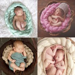 Newborn Baby Hand-woven Braid Rugs Blanket Photography Props