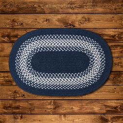 North Ridge Navy Braided Area Rug/Runner by Colonial Mills.
