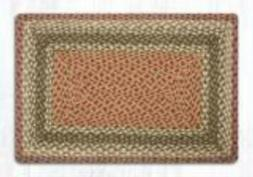Earth Rugs Oblong/Rectangle  Olive/Burgundy/Gray Braided Rug
