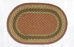 Olive/Burgundy/Gray Braided Rug Collection - Capitol Earth R