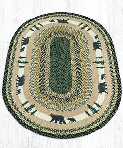 Earth Rugs OP-116 Bear Timbers Oval Patch 4' x 6'