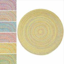 Playful Indoor / Outdoor Reversible Round Braided Rug by