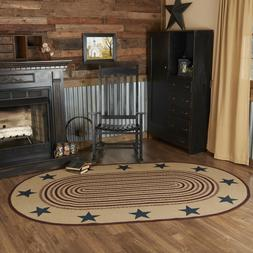 Potomac Stencil Star Americana Natural Jute Country Cottage