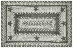 Primitive Star - Plymouth Jute Braided Rug. Rectangle. 4' x