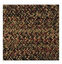 RED, BLACK, CAMEL,BROWN BRAIDED AREA RUGS BY COLONIAL RUG--M