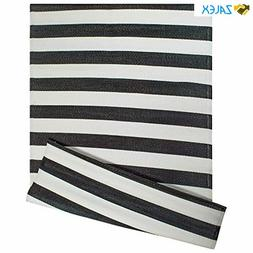 DII Reversible Indoor Woven Striped Outdoor Rug, 4x6', White