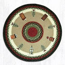 """Earth Rugs RP-338 Winter Village Round Patch 27"""" x 27"""""""