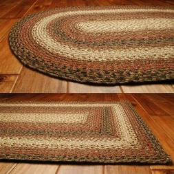 Russet Jute Braided Rugs by HomeSpice Decor