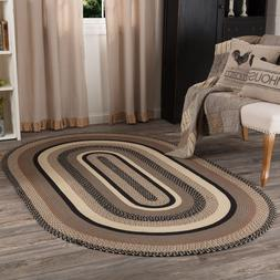 VHC Sawyer Mill Charcoal Jute Farmhouse Country Oval Rectang