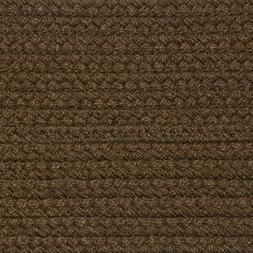 SOLID BROWN BRAIDED AREA RUGS By COLONIAL RUG-MANY SIZES! 11