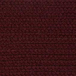 SOLID BURGUNDY COUNTRY BRAIDED AREA RUGS By COLONIAL RUG-MAN