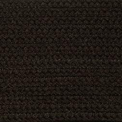 SOLID DARK BROWN COUNTRY BRAIDED AREA RUGS By COLONIAL RUG-M