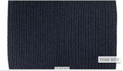Solid Navy Blue 100% Wool New England Country Home Quality B