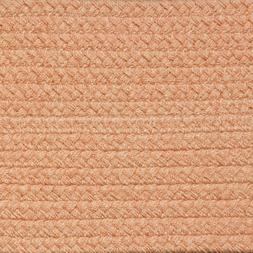 SOLID PEACH BRAIDED AREA RUGS By COLONIAL RUG-MANY SIZES! 12