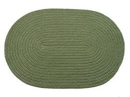 solid polyester round braided rug 4 feet