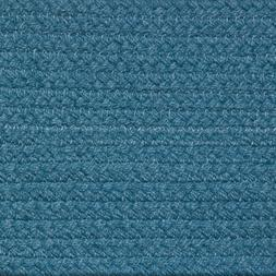SOLID WILLIAMSBURG BLUE BRAIDED AREA RUGS By COLONIAL RUG-MA