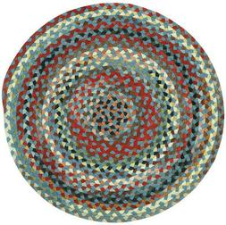 Capel Rugs St. Johnsbury Wool Double Braid Colony Blue Round