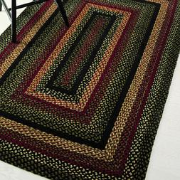 Tartan Braided Area Rug By IHF Rugs. Oval & Rectangle. Many