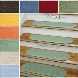 Rhody Rug Venice Braided Reversible Stair Treads