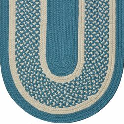 WILLIAMSBURG BLUE BRAIDED AREA RUG & RUNNER MANY SIZES AVAIL